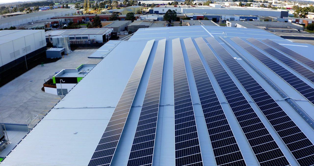 500KW solar roof system in Victoria Australia 1