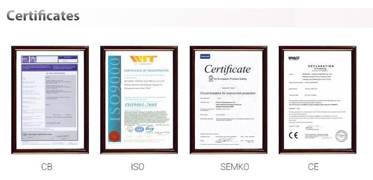 Certificate of Circuit Breaker