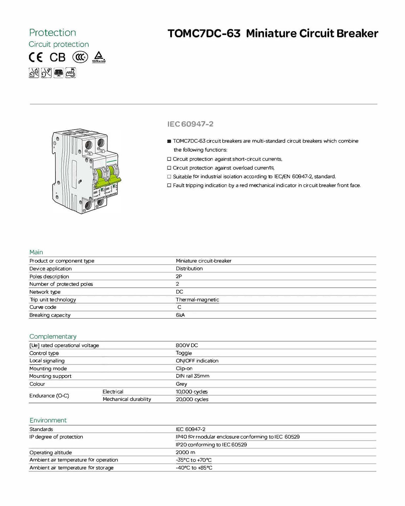 DC Circuit Breaker-2P