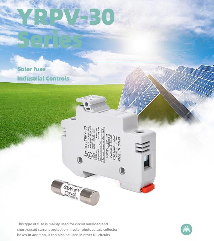 YRPV-30 solar fuse 10x38mm 1000VDC