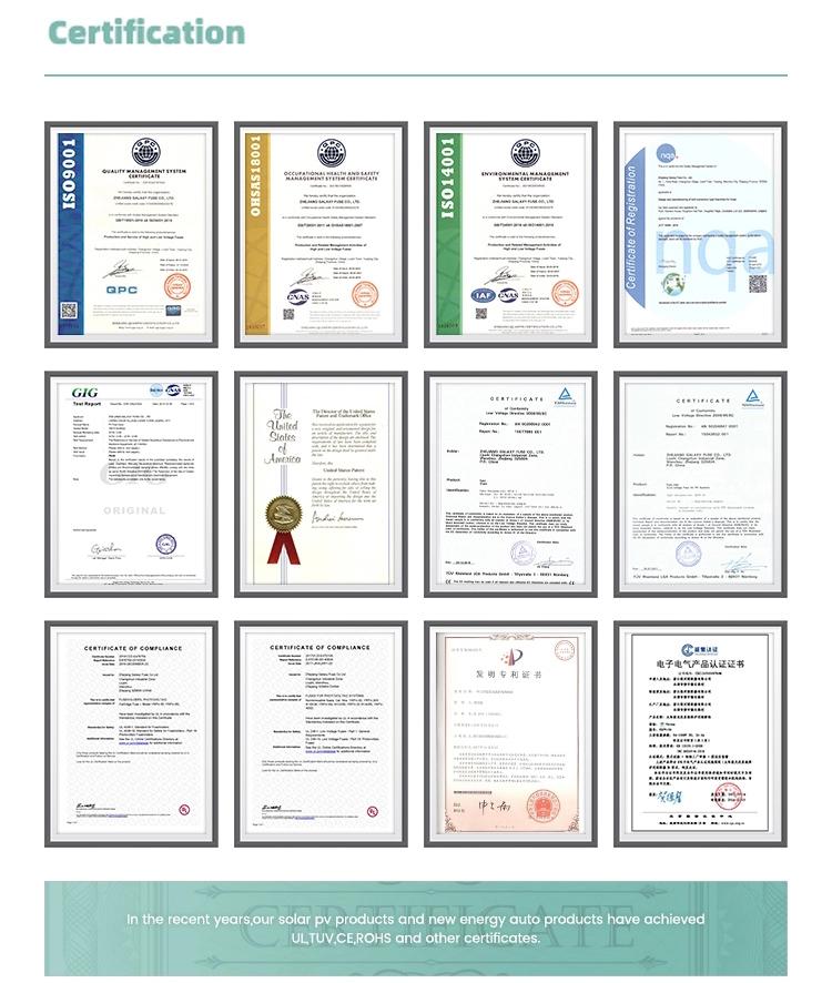 certificate of solar fuse