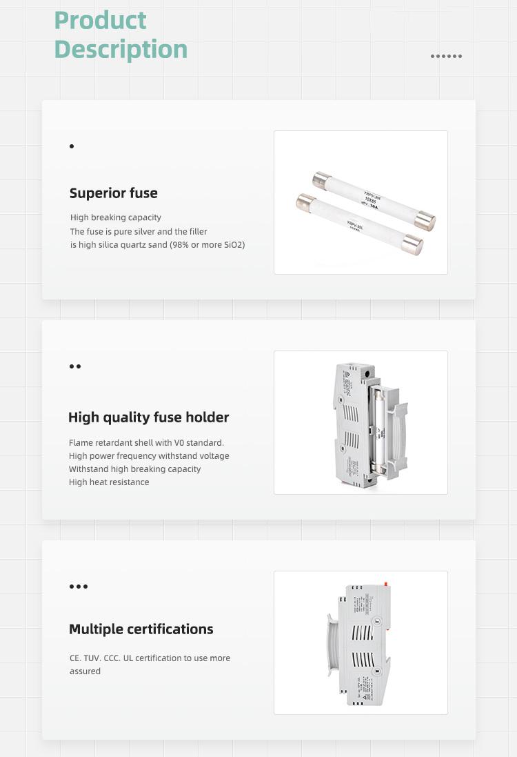 description of 1500v dc fuse holder