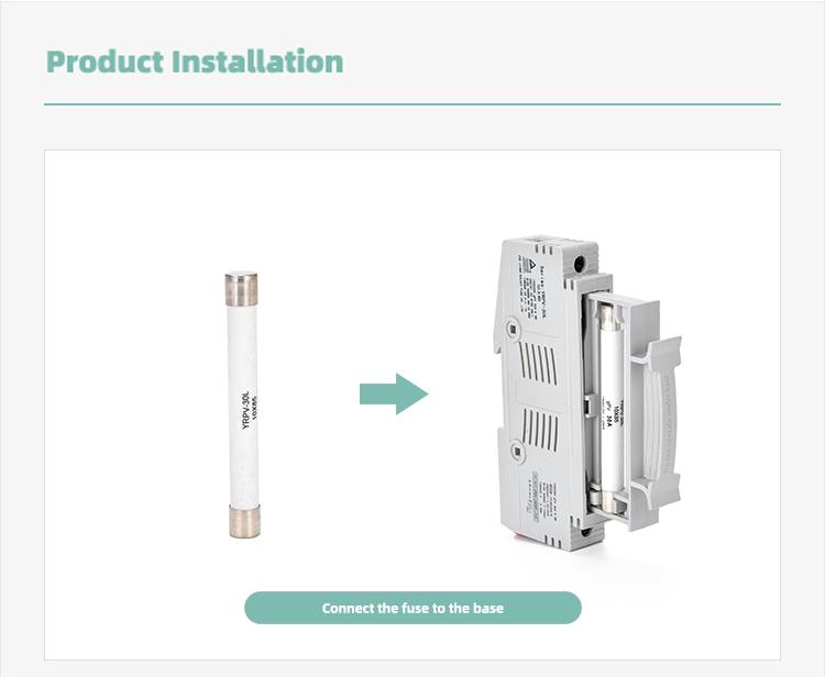 installation of 10x85mm fuse holder