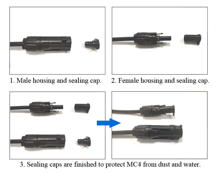 instruction of MC4 sealing cap