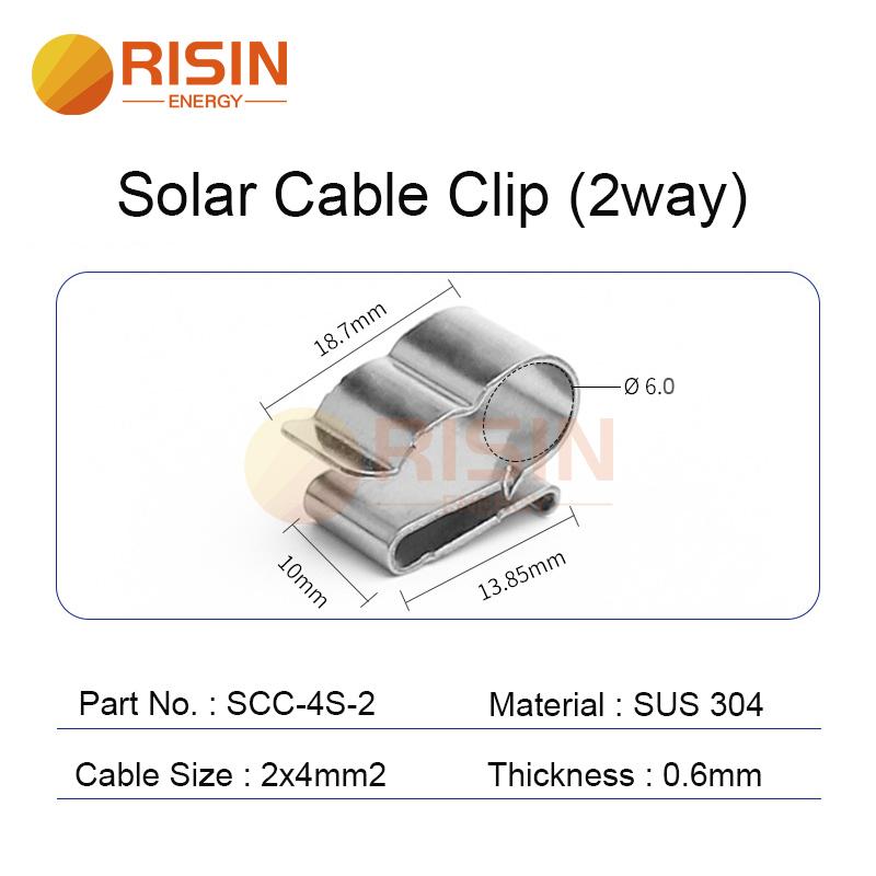 solar cable clip 2way 2x4mm2