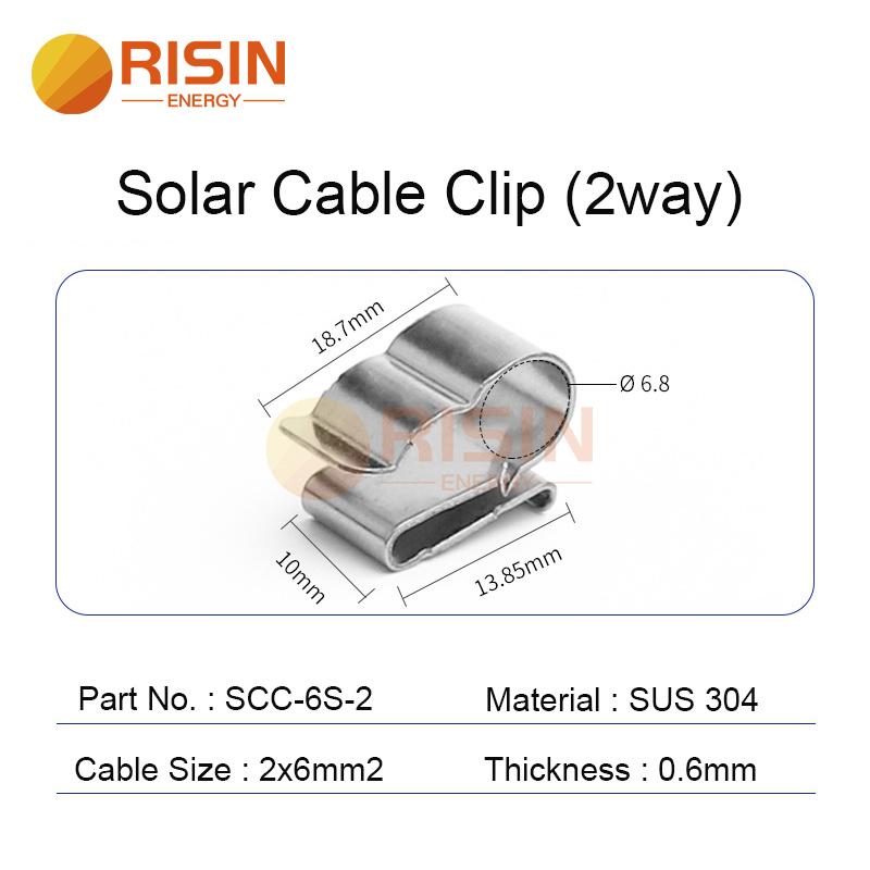 solar cable clip 2way 2x6mm2