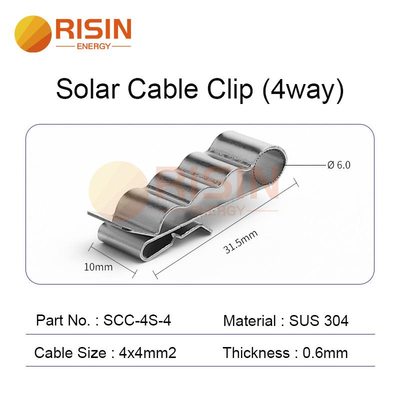 solar cable clip 4way 4x4mm2