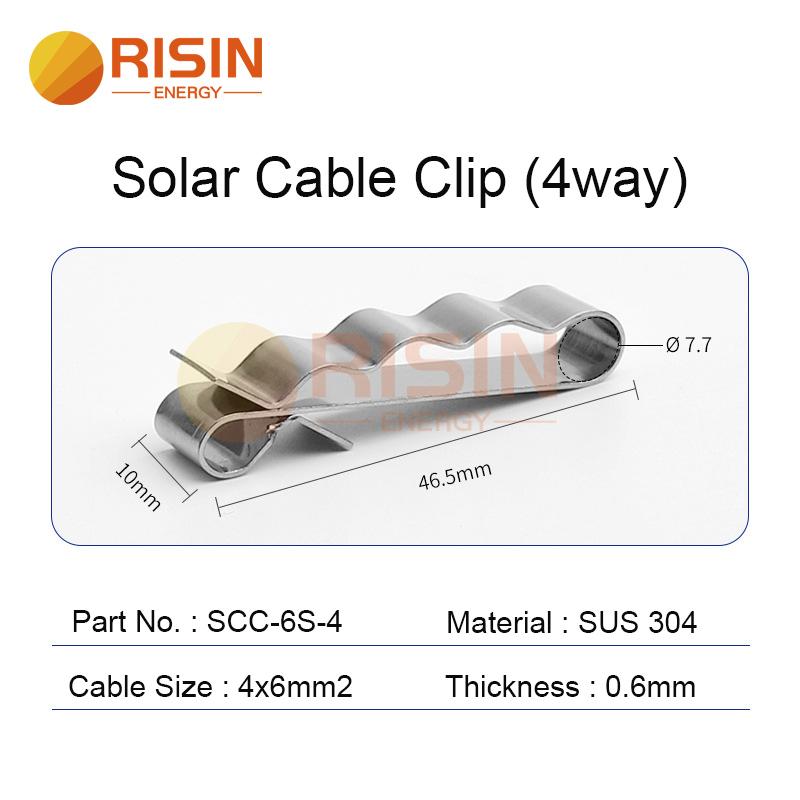 solar cable clip 4way 4x6mm2